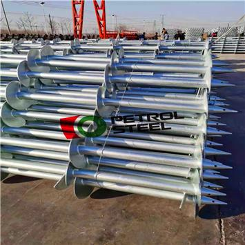 How galvanized ground screw anchors are widely used in solar energy PV building construction?